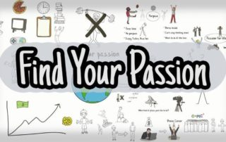"a quote that says ""Find Your Passion"""